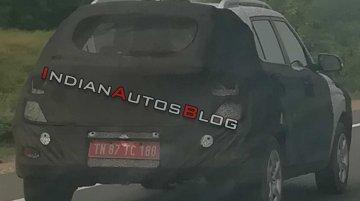 Hyundai Styx (Hyundai QXi) spied on test in Tamil Nadu