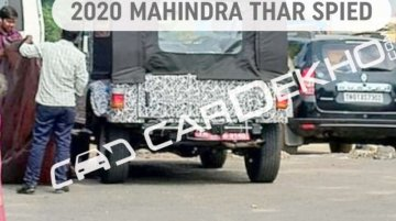 Next-gen 2020 Mahindra Thar makes spy photo debut