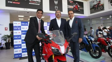 TVS Apache RR 310, NTORQ 125 & RTR 160 4V launched in Peru