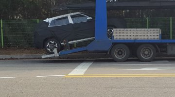 Hyundai Styx (Hyundai Leonis) spotted on a trailer in South Korea
