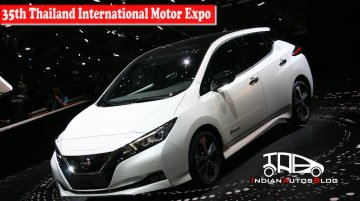 2018 Nissan Leaf (second-generation) | 35th Thailand International Motor Expo | Indian Autos Blog