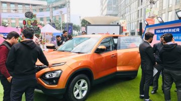 Tata Harrier makes its public debut, showcased in Gurugram
