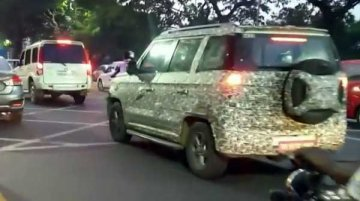 2019 Mahindra TUV300 (facelift) spotted on test again