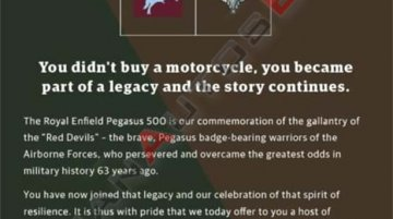 Royal Enfield Classic 500 Pegasus owners get free riding jacket & custom helmet