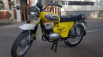 Restored Rajdoot Deluxe 175 looks bright as sunshine