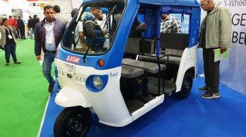 Mahindra Treo & Treo Yaari displayed at EV Expo 2018