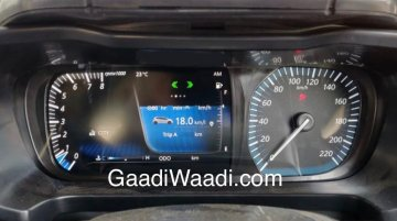 Tata 45X features a Harrier-like semi-digital instrument cluster