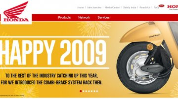 Honda India says 'Happy 2009' in its New Year greetings