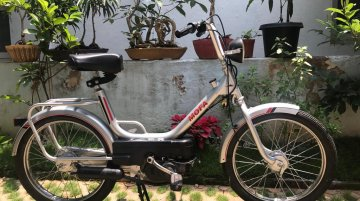 Restored Royal Enfield Mofa looks absolutely picture perfect