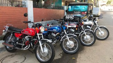 All four Yamaha RD350s from this IAB reader's garage look impeccable