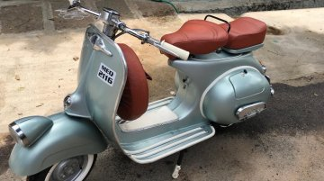 Custom 1973 Vespa by IAB owner wears a Douglas Kit and we want one