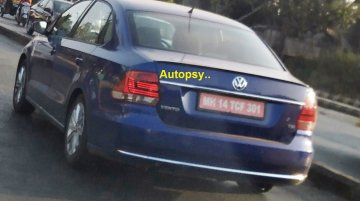 Possible BSVI-compliant VW Vento TSI test mule spied
