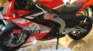 China-spec Aprilia GPR 150 showcased at a dealer's meet in Goa