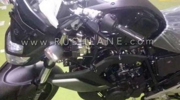 Yamaha FZ-S V3.0 black colour variant spied at a dealership