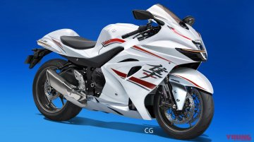 Sleeker, third generation Suzuki Hayabusa rendered by Japanese magazine