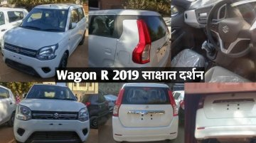 2019 Maruti Wagon R VXi caught on tape ahead of Wednesday's launch