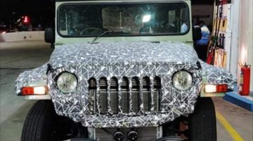 Next-gen 2020 Mahindra Thar spied up close