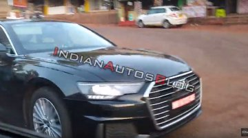 2019 Audi A6 caught testing in Mahabaleshwar