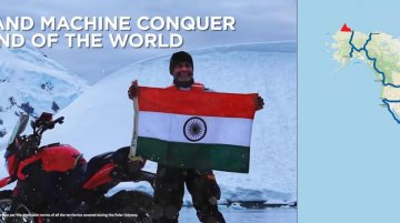 Bajaj Dominar becomes first Indian motorcycle to reach Antarctic circle