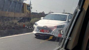 Hyundai Ioniq Electric spotted testing in Chennai
