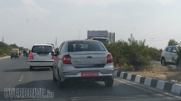 Ford Aspire 'Blu' spied for the first time