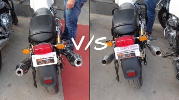 Stock vs aftermarket exhaust sound of Royal Enfield Continental GT 650 [Video]
