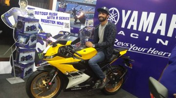 Yellow Yamaha YZF-R15 V3.0 delivered in Bangalore