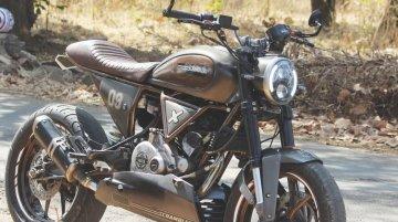 This modified Ducati Scrambler is a Bajaj Pulsar 180 underneath