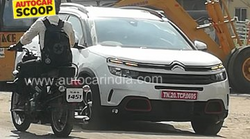 Citroen C5 Aircross spied in India for the first time