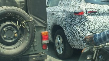 Tata H7X (Tata Harrier-based 7-seat C-SUV) spied on test