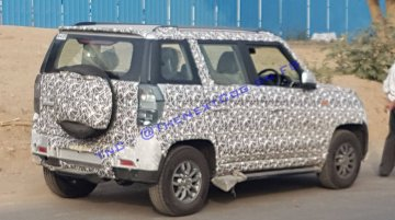 2019 Mahindra TUV300 (facelift) with clear-lens tail lamps spied
