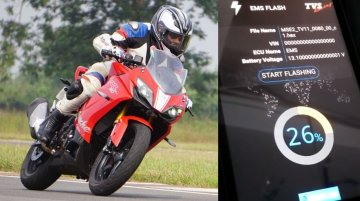 TVS Apache RR310 owner installs the new updates [VIDEO]