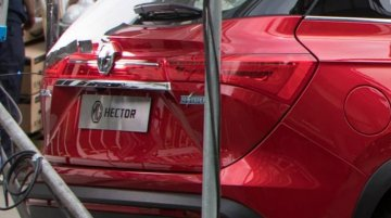 New spy image of the MG Hector reveals its 'Hybrid' badge