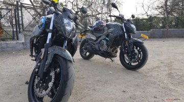Upcoming CFMoto 400NK spotted in India