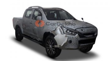 2019 Isuzu D-Max V-Cross (facelift) with a 1.9L engine and an AT spotted