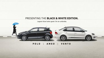 VW Polo, VW Ameo & VW Vento launched in Black & White edition