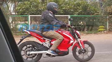 Production-ready Revolt electric motorcycle spied completely undisguised