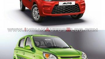 2019 Maruti Alto (facelift) vs. 2016 Maruti Alto 800 (facelift) - Old vs. New