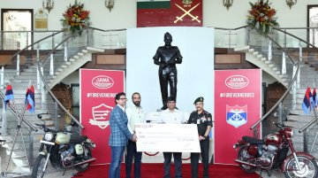 Jawa Motorcycles donates INR 1.49 crore to the Indian Armed Forces