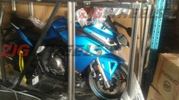 CFMoto 650GT imported to India, snapped on a shipping crate