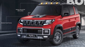 2019 Mahindra TUV300 (facelift) official accessories revealed