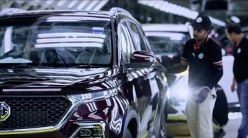 Watch the MG Hector roll off the production line [Video]