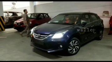 Toyota Glanza seen being driven for the first time, CVT confirmed [Video]