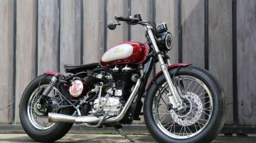 Modified Royal Enfield Classic 500 gets Bobber styling