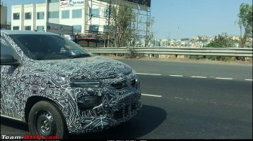 Lower-spec 2020 Renault Kwid (facelift) spied for the first time