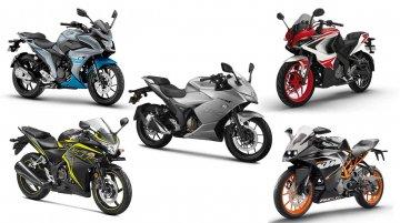 Suzuki Gixxer SF 250 vs Honda CBR 250R vs Bajaj Pulsar RS 200 vs KTM RC 200 Yamaha Fazer 25 [Spec Comparo]