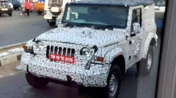 2020 Mahindra Thar spied with a hard top for the first time