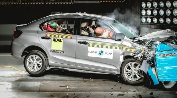 India-made Honda Amaze scores 4-star Global NCAP safety rating