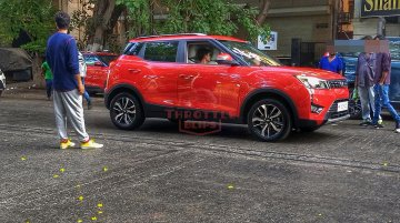 Mahindra XUV300 AMT spied during TVC shoot ahead of imminent launch