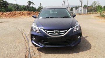 Toyota Glanza spotted at a dealership yard ahead of 6 June launch